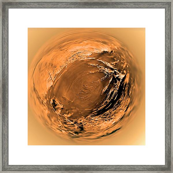 Surface Of Titan Framed Print