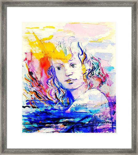 Surfacing Framed Print