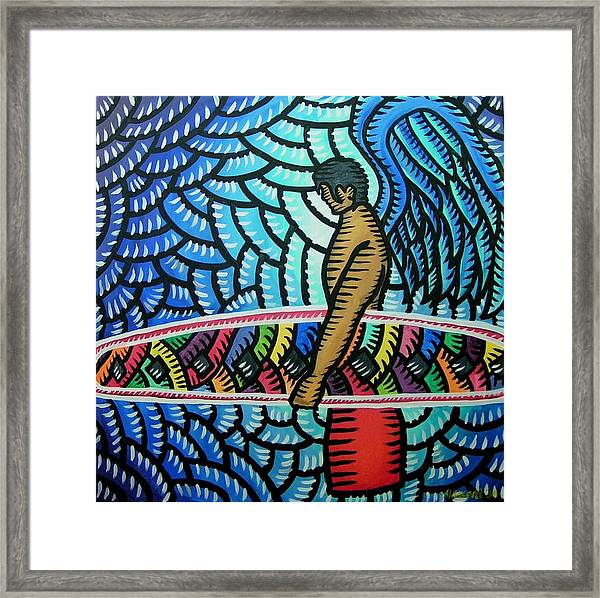Surfer Angel 2009 Framed Print
