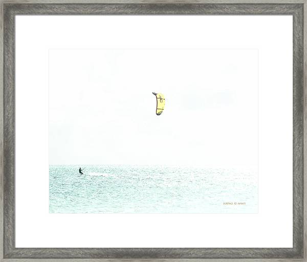 Surfing To Infinity Framed Print