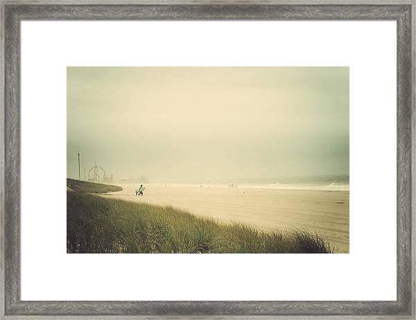 Surf's Up Seaside Park New Jersey Framed Print