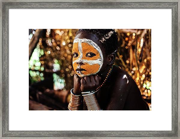 Suri Boy Framed Print