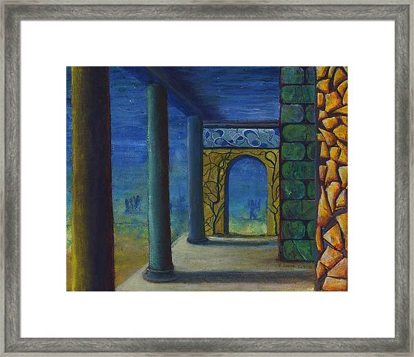 Surreal Art With Walls And Columns Framed Print
