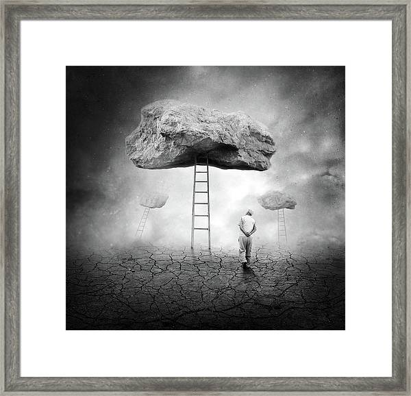 Surreal Walk Framed Print