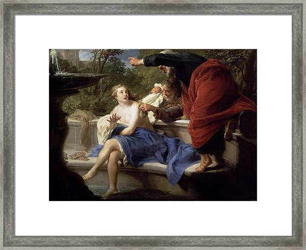 Susanna And The Elders, 1751 Framed Print