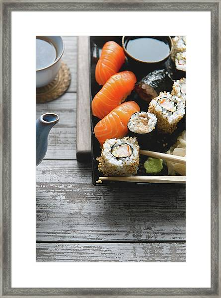 Sushi And Tea Framed Print