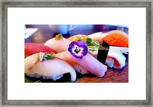 Sushi Lunch Framed Print