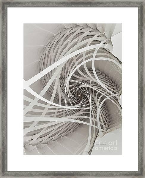 Suspension Bridge-fractal Art Framed Print