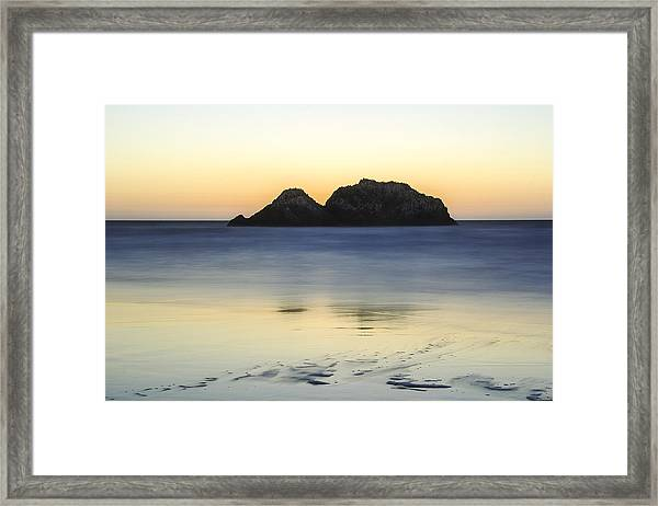 Sutro Baths Beach Framed Print