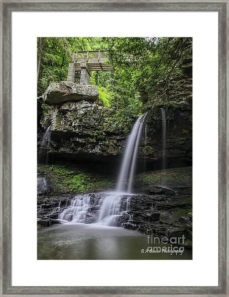 Suttons Gulch Waterfall Framed Print