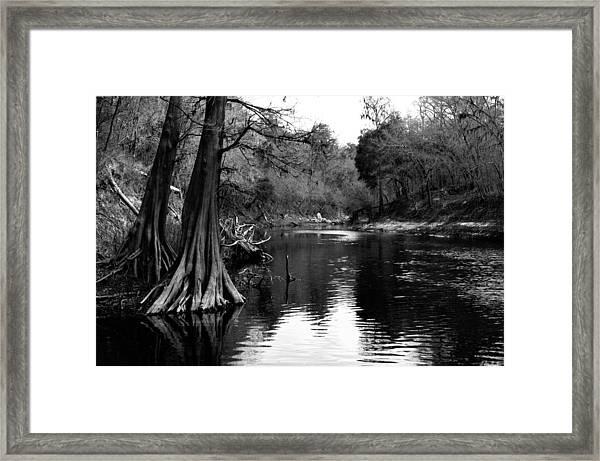 Suwannee River Black And White Framed Print