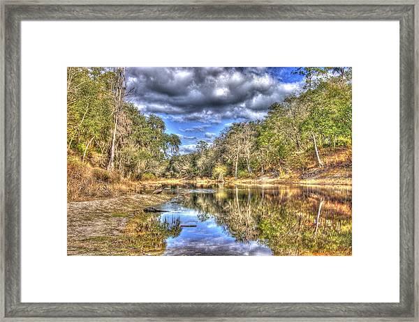 Suwannee River Scene Framed Print
