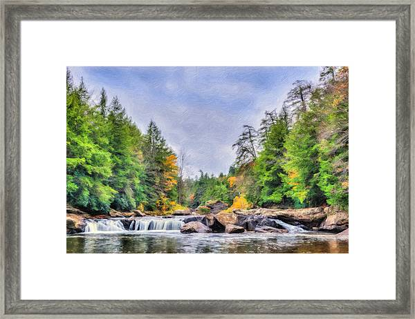 Swallow Falls Oil Painting Framed Print