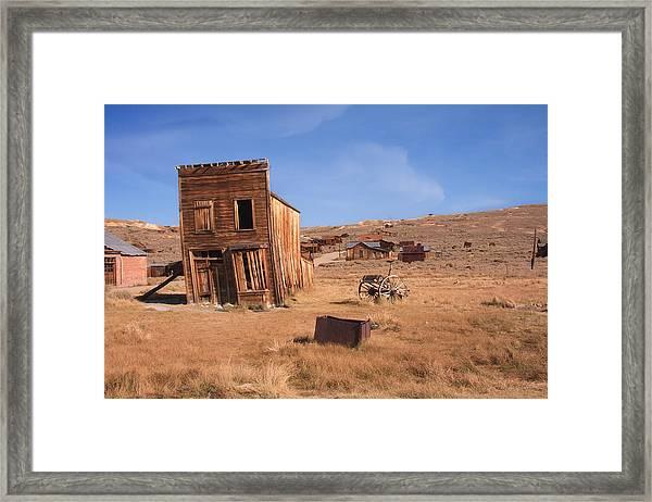 Swazey Hotel Bodie Ghost Town Framed Print