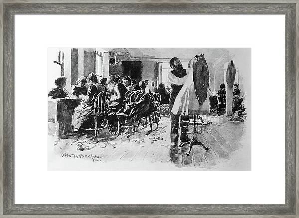 Sweatshop, 1892 Framed Print