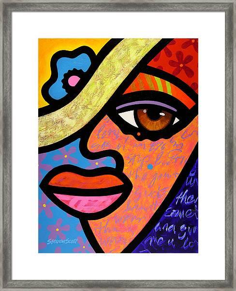 Sweet City Woman Framed Print
