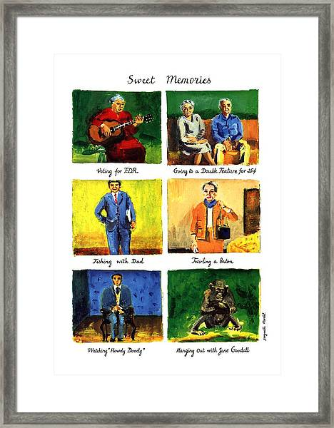 Sweet Memories Framed Print