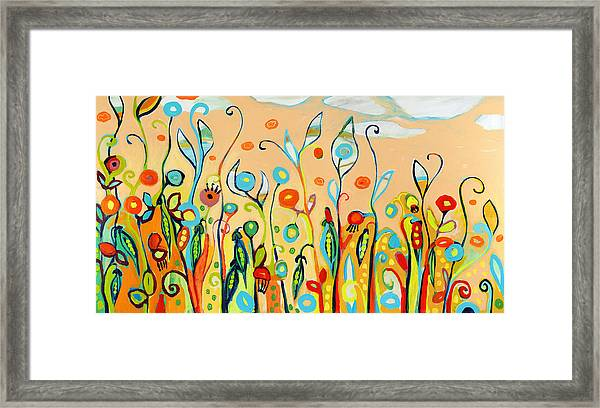 Sweet Peas And Poppies Framed Print