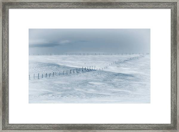 Swept By The Wind Framed Print