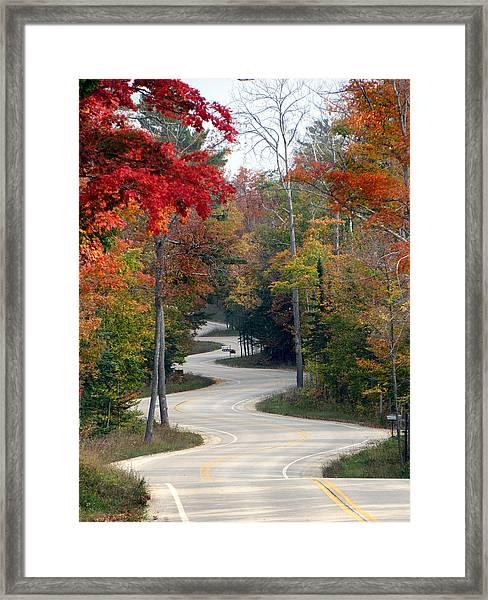 Swervy Road At North Port Framed Print