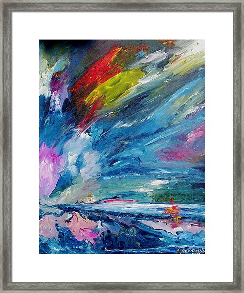 Framed Print featuring the painting Swift Movement by Ray Khalife