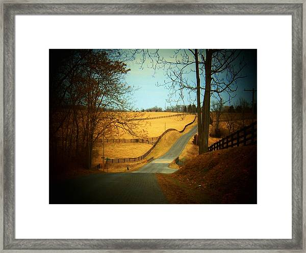 Swift Shoal Road Framed Print