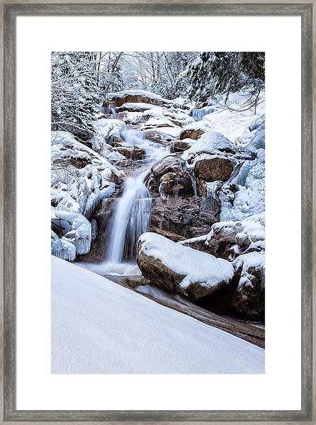 Swiftwater Falls Winter Framed Print