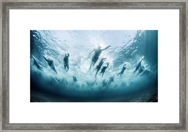 Swim Framed Print by Davide Lopresti