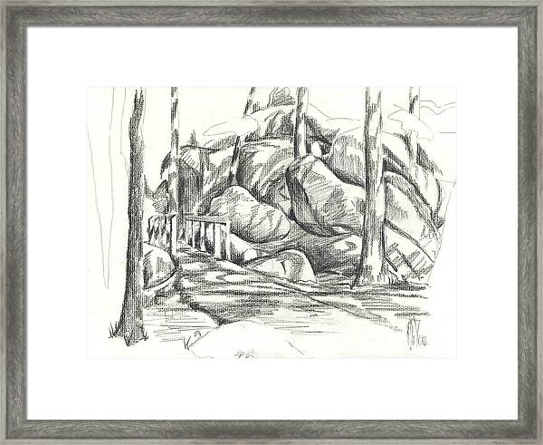 Swirling Cast Shadows At Elephant Rocks  No Ctc101 Framed Print
