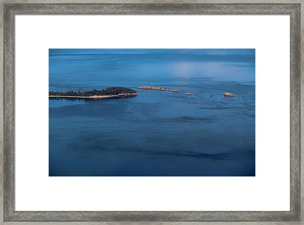 Swirling Currents Framed Print