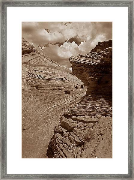 Swirling Ledge Framed Print