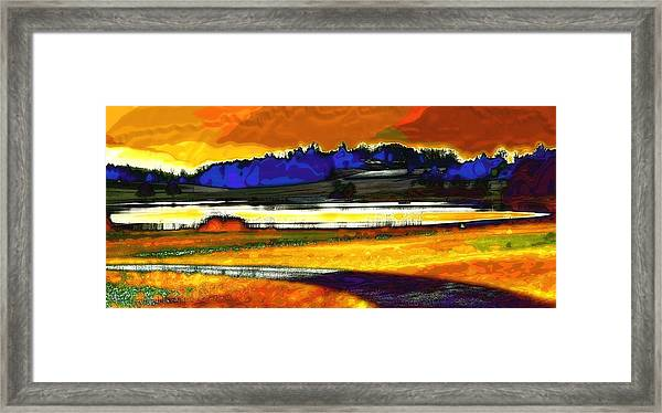 Swiss Countryside - Around The Luetzelsee Framed Print