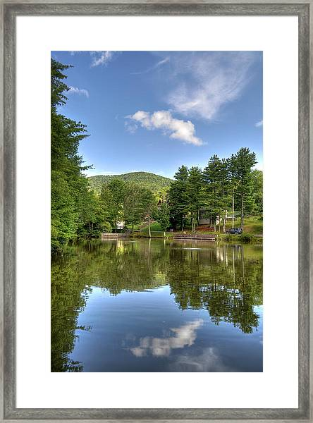 Swiss Mountain Lake Framed Print