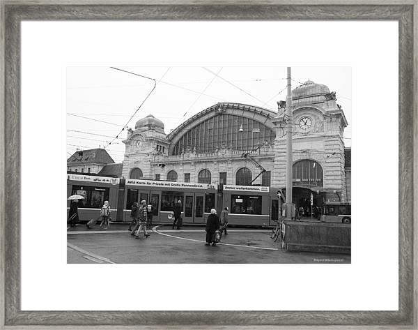 Swiss Railway Station Framed Print