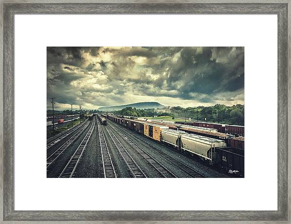 Switchyard Junction Near Lookout Mountain Framed Print