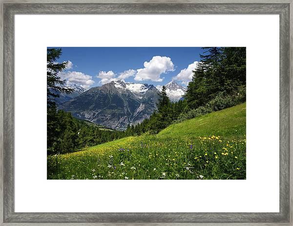 Switzerland Bietschhorn Framed Print