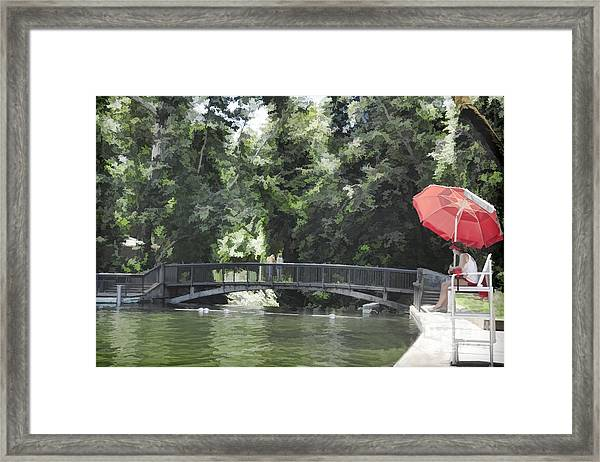 Sycamore Pool Framed Print