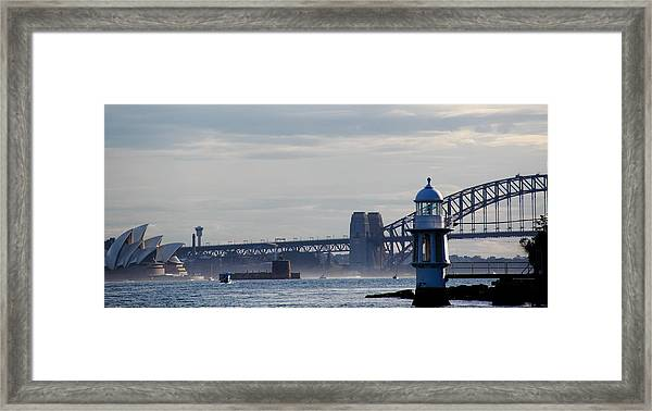 Framed Print featuring the photograph Sydney Harbour by Debbie Cundy