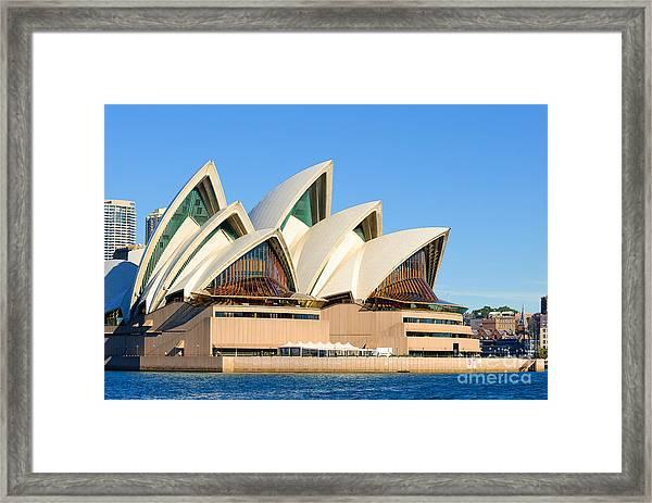 Sydney Opera House And Sydney Harbour Framed Print