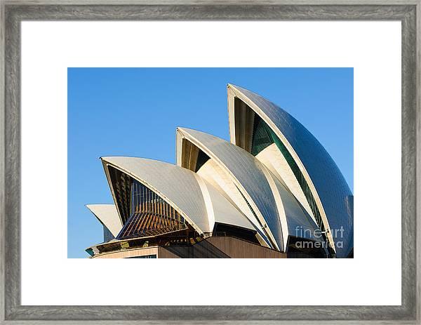 Sydney Opera House Roof Framed Print