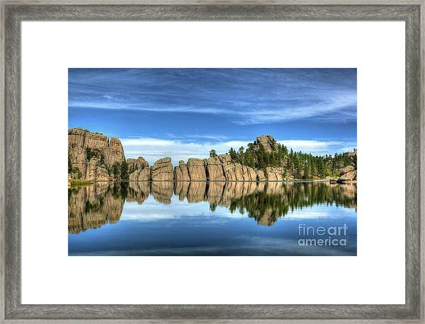 Framed Print featuring the photograph Sylvan Lake Reflections by Mel Steinhauer