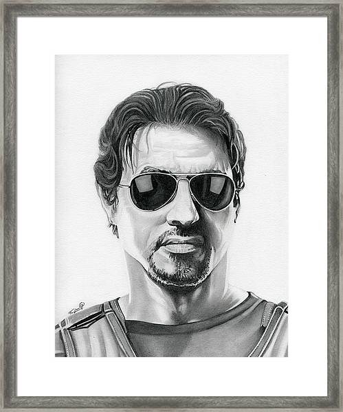 Sylvester Stallone - The Expendables Framed Print