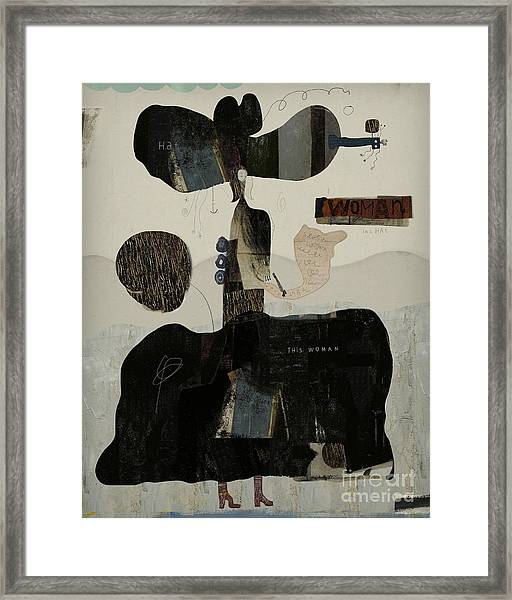 Symbolic Image Of A Woman, Which Is Framed Print