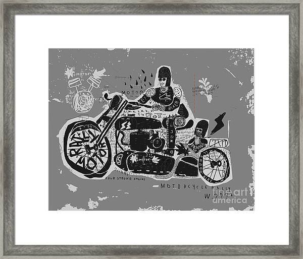 Symbolic Image Of An Old Racing Framed Print