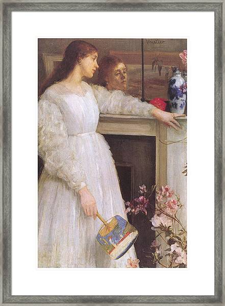 Symphony In White No 2 The Little White Girl Framed Print