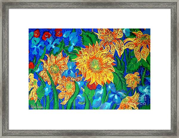 Symphony Of Sunflowers Framed Print