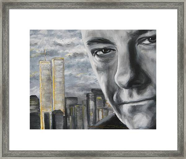 T And The Wtc Framed Print