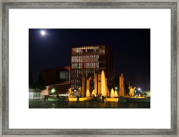 t Zand at night Framed Print