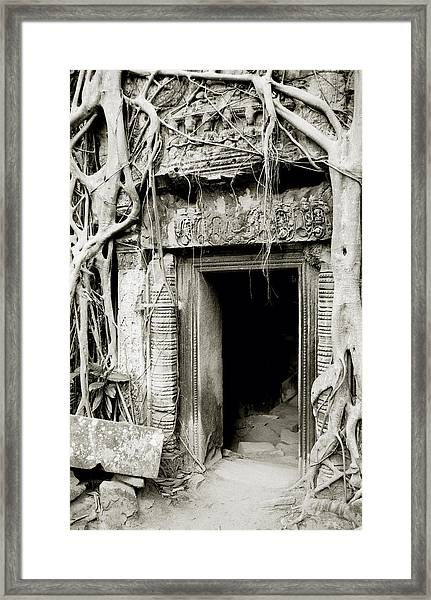 Ta Prohm Doorway Framed Print