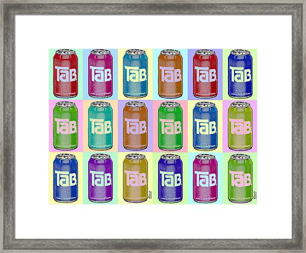 Tab Ode To Andy Warhol Repeat Horizontal Framed Print